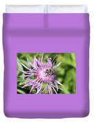 Honeybee On Ironweed Duvet Cover