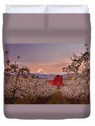 Hood River Sunrise Duvet Cover by Darren  White