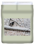 Hooded Crow First Snow Duvet Cover