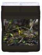 Hooded Warbler Duvet Cover