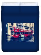 hop on hop off  through NYC Duvet Cover