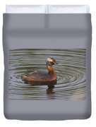 Horned Grebe Duvet Cover
