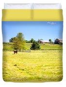 Horse Farm  Duvet Cover