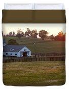 Horse Farm Sunset Duvet Cover