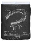 Horseshoe Patent Drawing From 1898 Duvet Cover