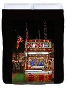 Hot Dog On A Stick Duvet Cover