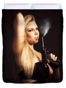 Hot Shot Woman Duvet Cover