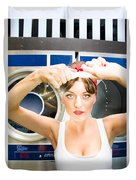 House Work Woman Duvet Cover