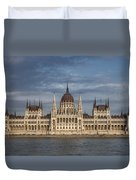 Hungarian Parliament Building Afternoon Duvet Cover