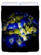 Blue Hydrangea, Corona Del Mar California Duvet Cover