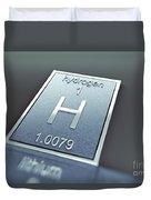 Hydrogen Chemical Element Duvet Cover
