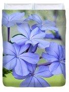 I Love Blue Flowers Duvet Cover