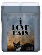 I Love Cats Duvet Cover