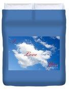 1 I Love You Heart Cloud Duvet Cover