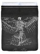 Icarus Flying Machine Patent Drawing Rear View Duvet Cover