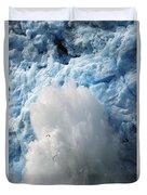 Ice Falling Off Glacier Alaska Duvet Cover