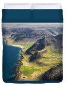 Iceland Plateau Mountains Duvet Cover