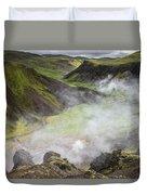 Iceland Steam Valley Duvet Cover