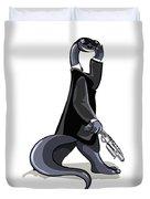 Illustration Of A Brontosaurus Dressed Duvet Cover