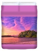 Indian Ocean Sunset Duvet Cover