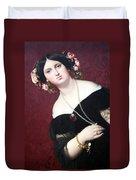 Ingres' Madame Moitessier Abstract Duvet Cover