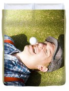 Insane Sport Nut Crazy About Golf Duvet Cover