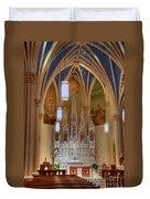 Interior Of St. Mary's Church Duvet Cover