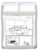 Interior Office Rooms Duvet Cover