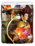Interiors Of Vihn Trang Pagoda, My Tho Duvet Cover
