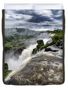 Iquassu Falls - South America Duvet Cover