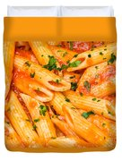Italian Pasta - Penne All'arrabbiata Duvet Cover