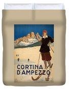 Italian Travel Poster Duvet Cover