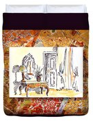 Italy Sketches Venice Hotel Duvet Cover