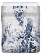 Jack Johnson Portrait Duvet Cover