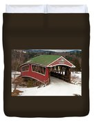 Jackson Cross Country Skiing Bridge Duvet Cover