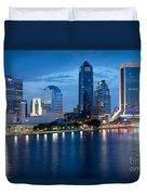 Jacksonville Skyline At Dusk Duvet Cover