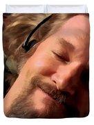 Jeff Bridges As The Dude Duvet Cover