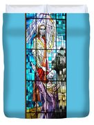 Jesus Healing The Blind Man Duvet Cover
