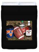 Jim Beam Coke And Football Duvet Cover