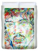 Jimi Hendrix Watercolor Portrait.1 Duvet Cover