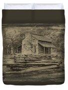 John Oliver Cabin In Cades Cove Duvet Cover