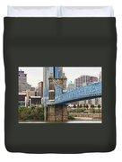 John Roebling Bridge 1867 Duvet Cover