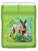 Joyful Hare Duvet Cover