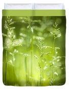 June Green Grass Flowering Duvet Cover by Elena Elisseeva