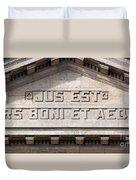 Jus Est Ars Boni Et Aequi Duvet Cover