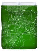 Kabul Street Map - Kabul Afghanistan Road Map Art On Colored Bac Duvet Cover