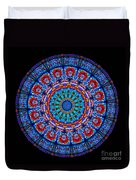 Kaleidoscope Stained Glass Window Series Duvet Cover