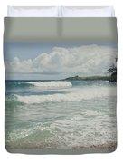 Kapalua Surf Honokahua Maui Hawaii Duvet Cover