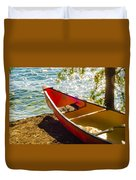 Kayak By The Water Duvet Cover