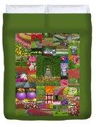 Keukenhof Gardens Collage Duvet Cover
